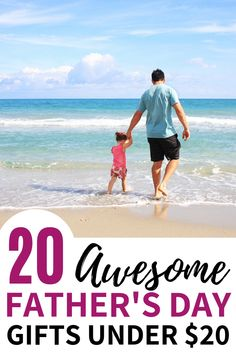 Best Gifts For Dad under $20. These cheap Fathers Day gifts from kids are perfect for showing your dad you care about him, without spending a ton of money. Check out these Father's Day gifts under 20 for unique gifts for dad!