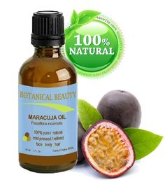 MARACUJA OIL. 100% Pure / Natural. Cold Pressed / Undiluted. For Face, Hair and Body. 1 Fl.oz.- 30 Ml. By Botanical Beauty by Botanical Beauty. $21.95. Maracuja Oil is calming and sedating, and is suitable for inclusion in bath care products and products intended to promote relaxation. Its anti-inflammatory, anti-spasmodic and sedative properties make it the oil of choice for use in massage applications and formulations intended to ease muscular aches and swelling.. This Maracu...