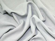 Silver Grey Linen-Look Polyester Crepe Fabric