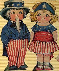 Vintage 4th of July Grace Drayton paper dolls