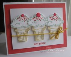 Stampin' Up!, Sprinkles on Top, Ice Cream Cone, Birthday