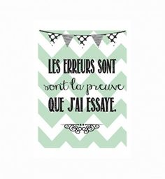 Citation pour la classe - Thème Vintage/Subway Art Plus French Phrases, French Quotes, Spanish Quotes, Positive Mind, Positive Attitude, French Classroom, Quote Citation, Poster S, Teaching French