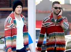 David Beckham and Adam Levine sporting RRL