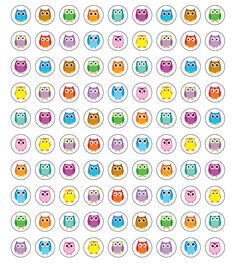 "Use these whimsical Colorful Owls Chart Seals with any incentive chart or job chart! Assorted colors and designs on each seal! Self-adhesive chart seals are acid-free and lignin-free and measure .375"" in diameter.  Look for coordinating products in the Colorful Owls design to create this popular classroom theme!"