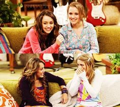 Miley/Hannah and Emily/Lily/Lola Old Disney Channel Shows, Old Disney Shows, Disney Channel Stars, Hannah Miley, Hannah Montana Forever, Emily Osment, Celebrity Babies, Celebrity Women, Lizzie Mcguire