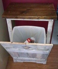 Amazing uses for Old Pallets -Hide your garbage bin, super!