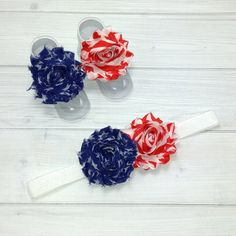 How cute would your angel look in her fourth of July attire with this headband?!