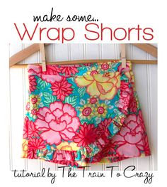 Wrap shorts are so cute!