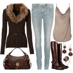 """""""Tall boots and cardigan"""" by emmafazekas on Polyvore"""
