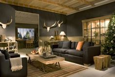 Canap s on pinterest - Deco stijl chalet ...