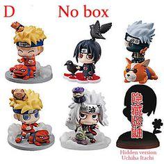 6pcs/set Naruto Sasuke Kakashi Gaara Action With Mounts figures