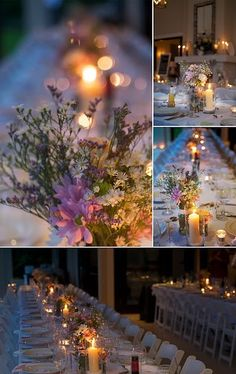 Very simple and beautiful ideas for flowers on the tables