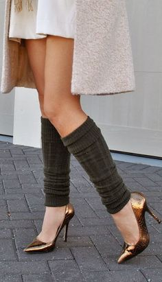 I've been telling people for years leg warmers were coming back, and they all thought I was crazy... # proof I know what's up