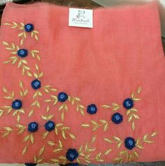 Call or whatsapp on to buy/order this Embroidery On Kurtis, Kurti Embroidery Design, Embroidery Fashion, Hand Embroidery Designs, Embroidery Applique, Floral Embroidery, Beaded Embroidery, Churidar Pattern, Kamiz Design