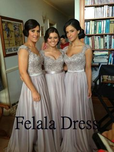 Long prom dresses-  chiffon prom dress/ prom dress 2014/ long bridesmaid dress/ formal evening gown/ party dress/evening dress/prom dress