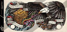 Eagle Chest Tattoo by Sam-Phillips-NZ.deviantart.com on @DeviantArt