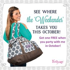 Thirty-One's Hostess Reward for October! Email me at mommasnewbag@gmail.com to book your party!