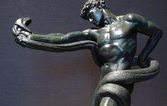 Leighton, Athlete Wrestling a Python, Bronze