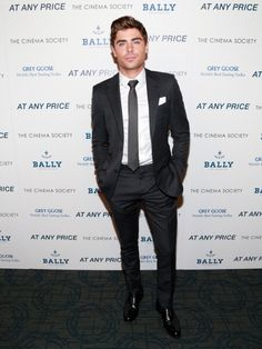 """Zac Efron attends the Cinema Society & Bally screening of Sony Pictures Classics' """"At Any Price"""" at Landmark Sunshine Cinema on April 18"""