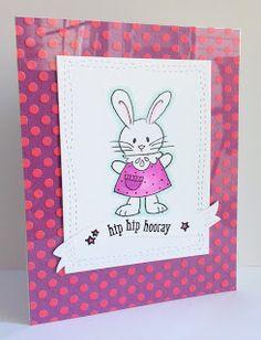Stampendous Spring Short Stacks, We R Memory Keepers Acetate, Heidi @ My Little Stamping Blog