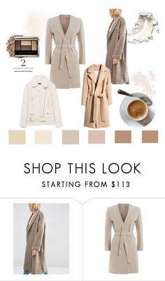 """autumn coat"" by sara-tortello on Polyvore featuring moda, ASOS, H&M, MaxMara, Jakke, autumn, Earth, coffe e coat"