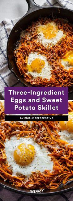 Breakfast is as easy as 1-2-3. #greatist https://greatist.com/eat/three-ingredient-breakfast-recipes