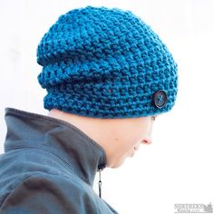 bf3d8e30cd05a Crochet hat pattern - Totally Sweet Slouch Hat (beanie) by Northern Knots -  slouchy