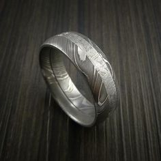 Gibeon Meteorite in Damascus Steel Wedding Band Made to any Size and Width