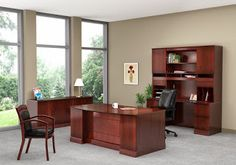5 Executive Desk Collections Sure To Be Hot This Winter Executive Office Furniture, Furniture Deals, Home Office Design, Little Houses, Wood Veneer, Office Interiors, Luxury Homes, Design Inspiration, Layout