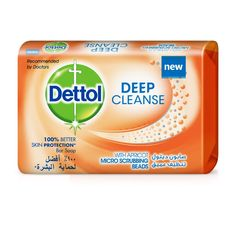 Dettol Deep Cleanse with Apricot Micro-scrubbing beads, provides 100% Better Skin Protection