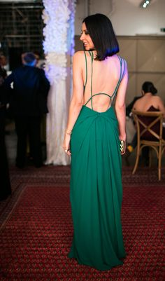 Helo Gomes in a beautiful green gown