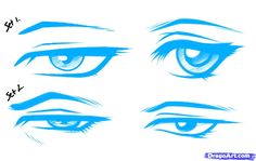 How to Draw Anime Male Eyes, Step by Step, Anime Eyes, Anime, Draw ...