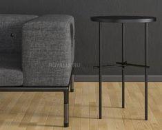Кофейный  столик в стиле Лофт (с дубовой столешницей) R43-313