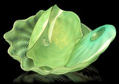 Dale Chihuly - Algae Green Seaform Set, 1987 7 x 15 x Blown Glass Art, Dale Chihuly, Art Series, Mosaic Glass, Colored Glass, Art Decor, Sculpture, 20 Years, Colours