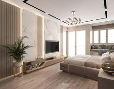 Luxury Living Room Design on Behance Modern Luxury Bedroom, Master Bedroom Interior, Tv In Bedroom, Modern Bedroom Design, Luxurious Bedrooms, Luxury Living, Kids Bedroom, Living Room Tv Unit Designs, Suites