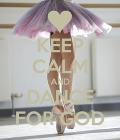 Personalised Posters with a 'KEEP CALM AND DANCE FOR GOD' design. Perfect wall-art for inspiring positivity and calm. Several sizes available, posters and adhesive wall posters.