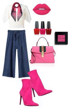 """Sin título #964"" by maricelmartinez on Polyvore featuring moda, Carvela, Lanvin, McQ by Alexander McQueen, Gucci, Lime Crime, OPI y Bobbi Brown Cosmetics"