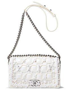 Winter white Chanel bag