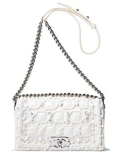 Winter white Chanel bag