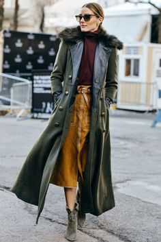 Army Green Outerwear Is Still Trending