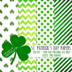 St. Patrick's Day Scrapbook Paper - FREE printable