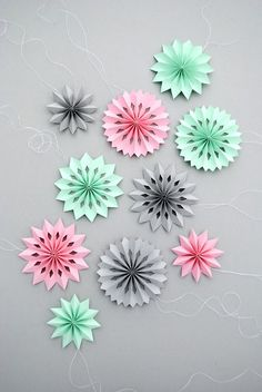 mini paper medallions with holes...and printable templates