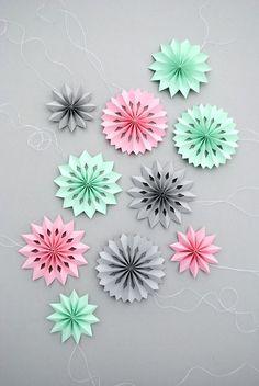 Mini medallones de papel