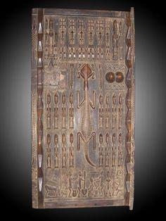_porte_Dogon_ & Dogon Door - Mali Dogon granaries are often adorned with exquisitely ...