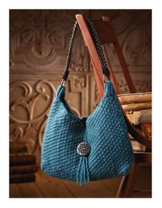 Blue Crochet Bag with directions to follow. 1 of 3. ☀CQ #crochet #bags #totes
