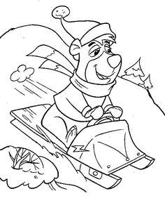 Yogi Bear Målarbilder för barn. Teckningar online till skriv ut. Nº 4