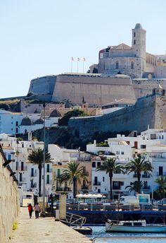 La Marina, Eivissa, with a view on Dalt Vila #ibizaimages
