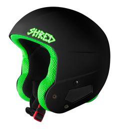 b011ec71d8 Shred Brain Bucket Race Helmet  Don  Black - A2SKI
