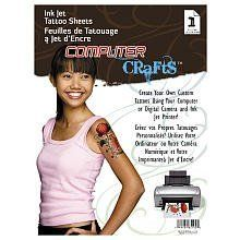 "Cre8 Ink Jet Tattoo Sheets by Janlynn. $9.99. Create your own tattoo artistry with friends on our Ink Jet Tattoo Sheets.. Use an ink-jet printer to make up your own temporary tattoo designs. Great ideas for birthday parties, sleep overs or tattoos to compliment costumes.. Instructions and project ideas included. Each package contains one 5 1/2"" x 8 1/2"" Tattoo sheets.. Safe and easy one step process that lasts for days. Removes easily by washing.. From the Manufacturer     ..."