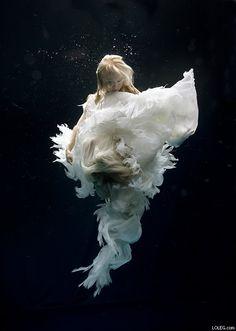 Underwater Wedding Photos by Kelly , via Behance